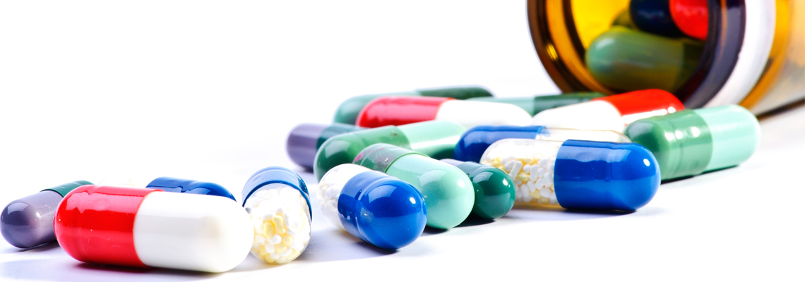 Pill supliments in various colours.