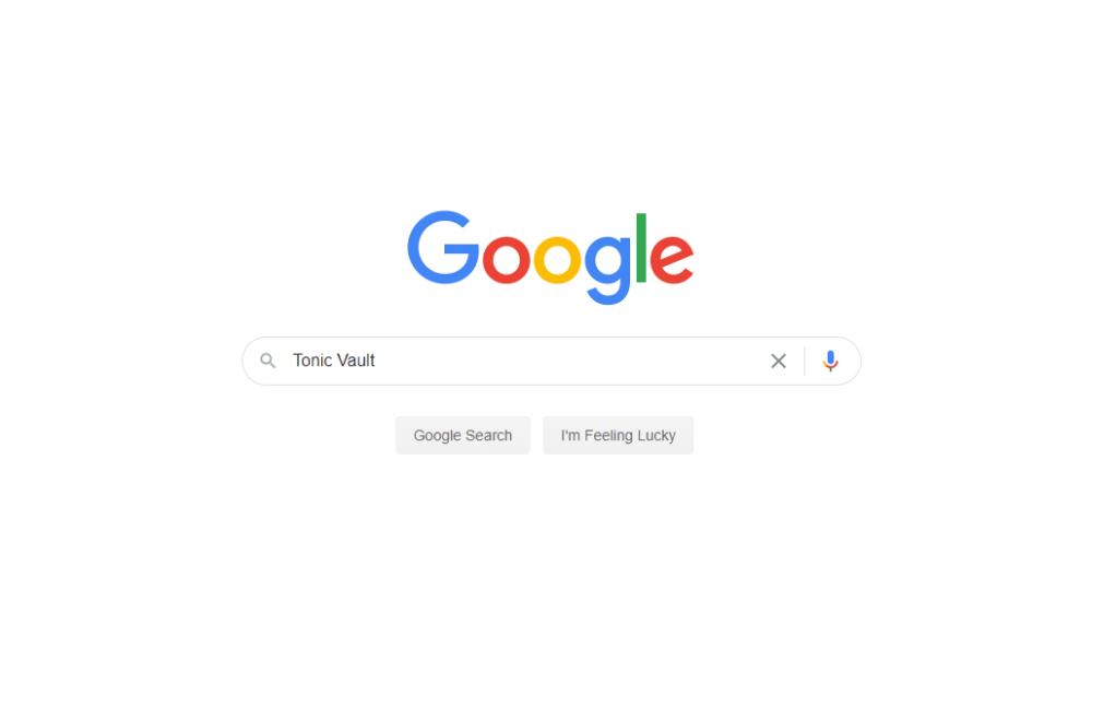 A Google search screenshot of Tonic Vault