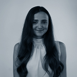 A black and white headshot image of the Affiliate Assistant for Castle, Olivia Wilson.