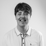 A black and white image of the SEO Executive for Castle, Sean Sturgeon.