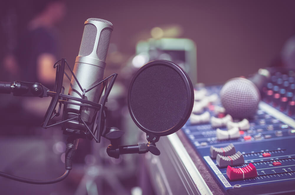 Professional condenser and voice over equipment