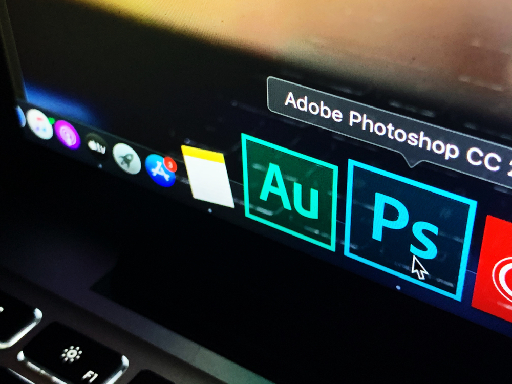 The Photoshop application being opened by a user so they can work on an animation