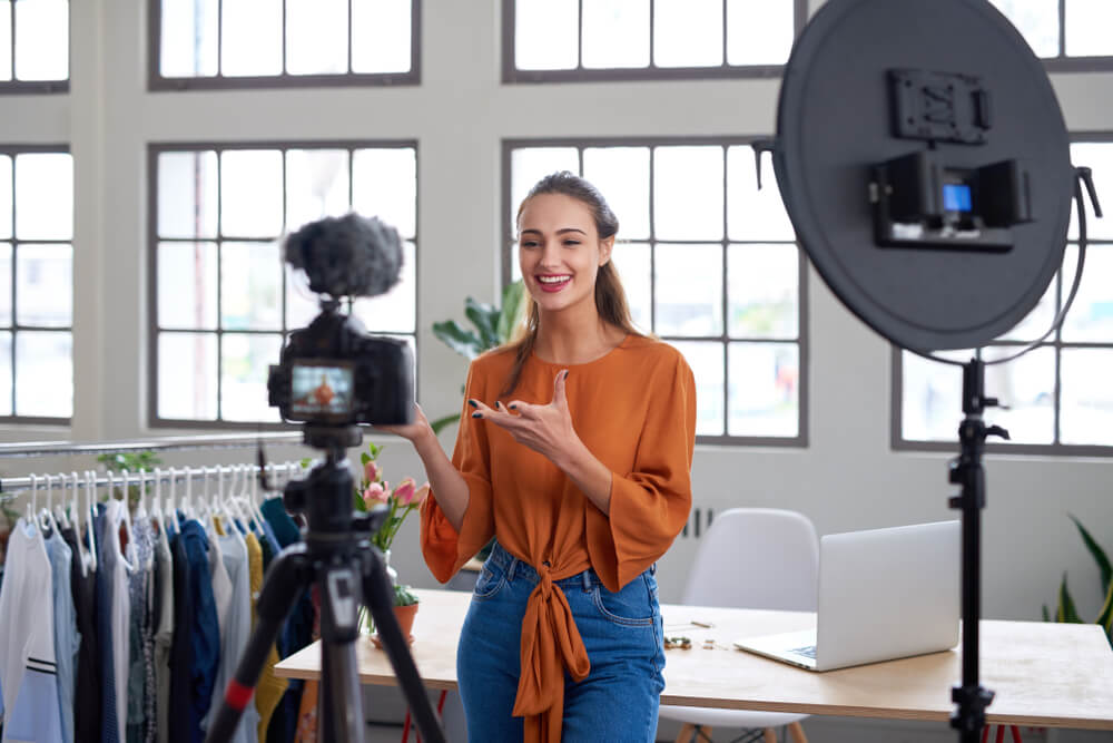 A person filming a video showing how to monetise instagram